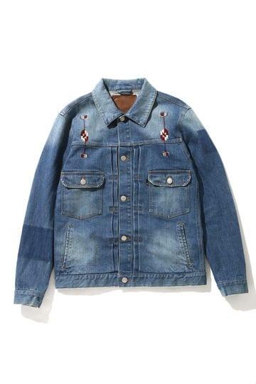 【先行予約 9月下旬お届け予定】メンズエスニック刺繍デニムジャケット