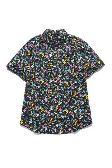 グラフィカルカラフルプリントシャツ