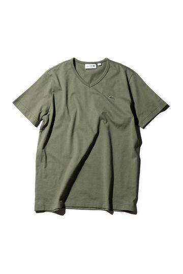 (LACOSTE)Vネック半袖Tシャツ