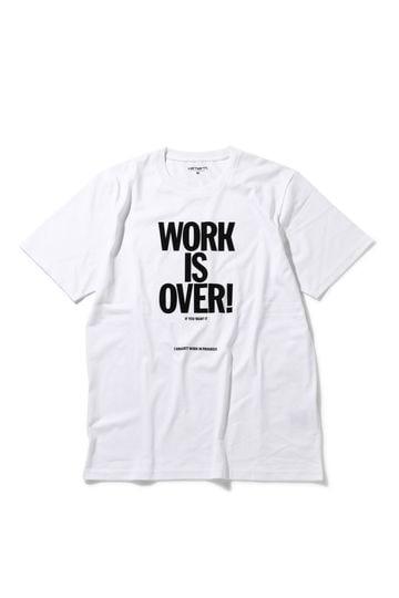 [CARHARTT]WORK IS OVER T-SHIRT