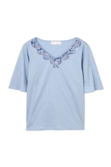 [ウォッシャブル]カットワーク刺繍カットソー【15000UNDER】