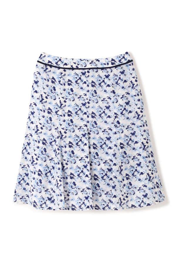 ペインティングフラワープリントスカート