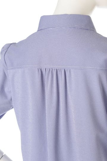 [ウォッシャブル]ハイゲージシャツブラウス【15000UNDER】