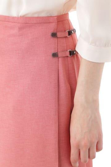 ラッププリーツスカート