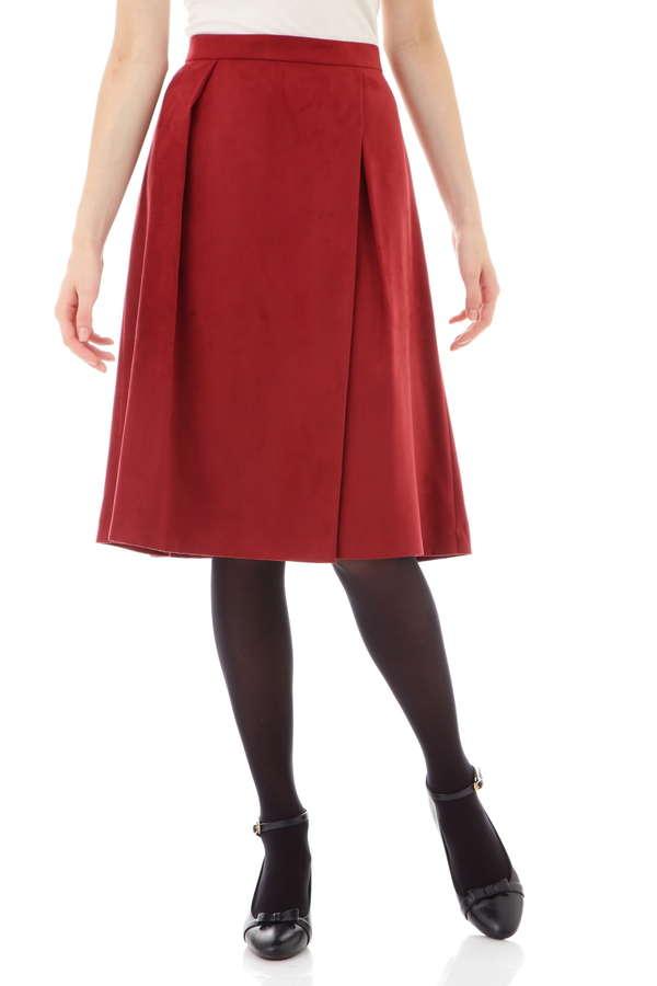 スエードラップスカート