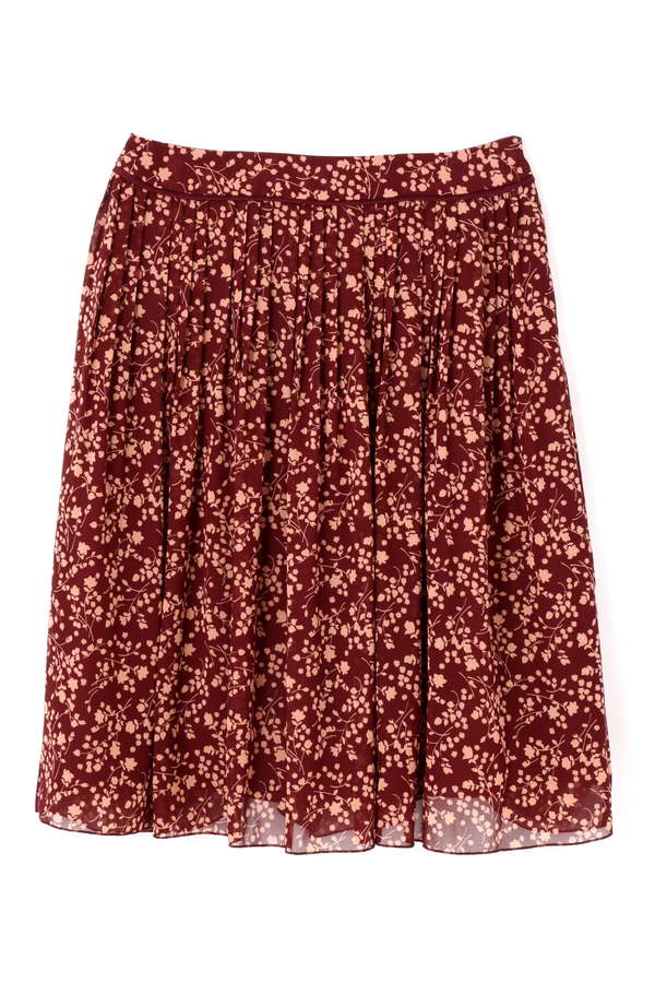 シフォン小花PTプリーツスカート