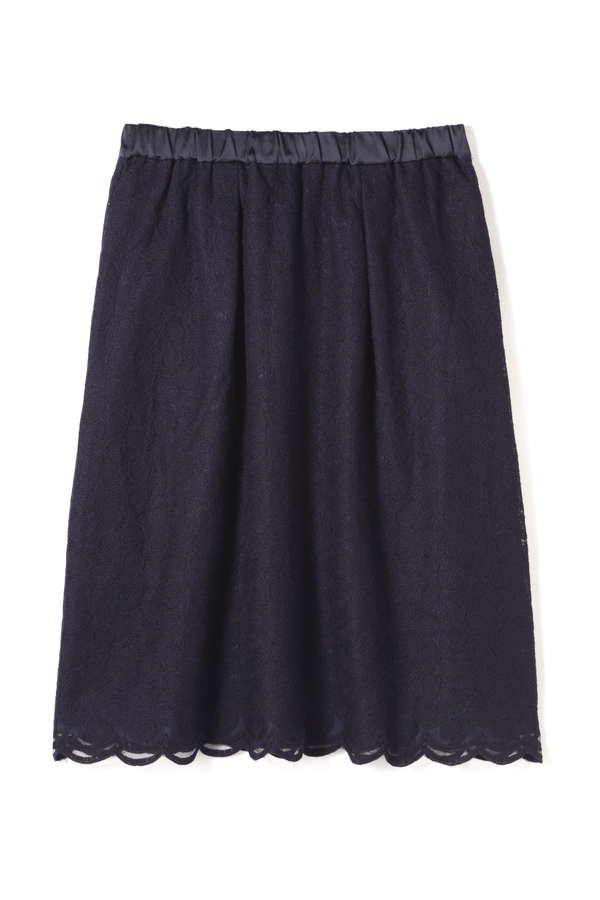 三角フラワー刺繍スカート