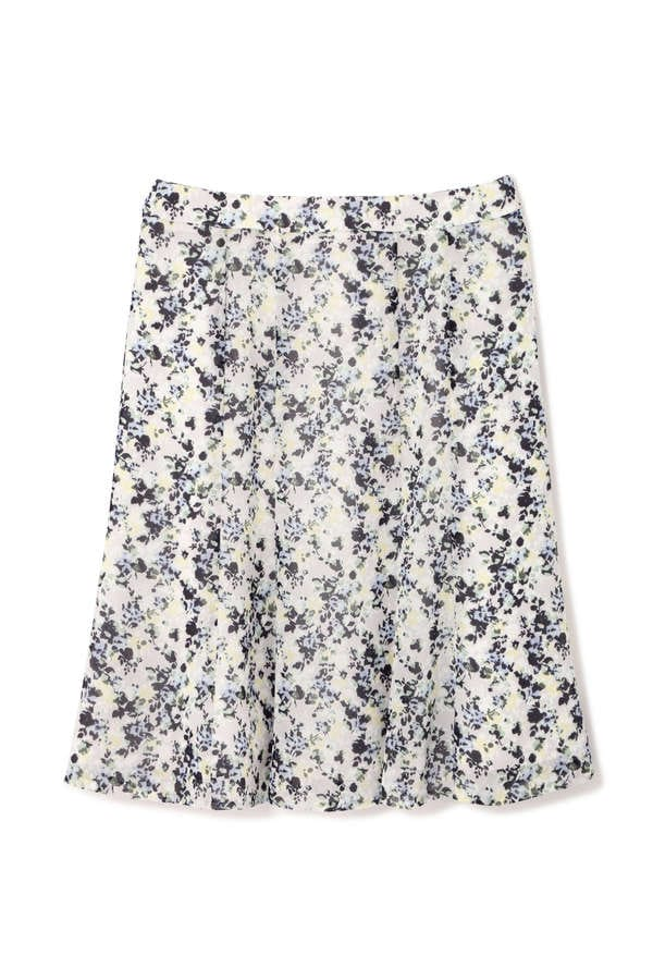 シェイドフラワープリントスカート