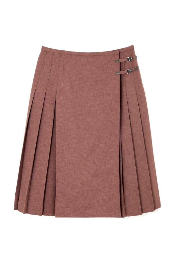 【先行予約 9月上旬 入荷予定】ラッププリーツスカート