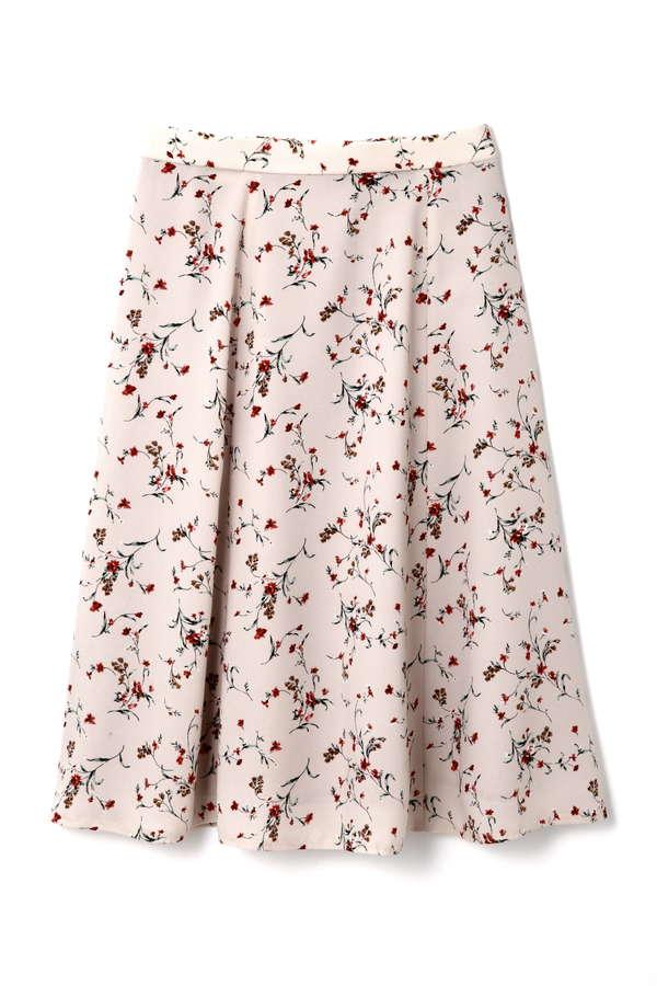 【先行予約 11月上旬 入荷予定】クラシカルフラワープリントスカート