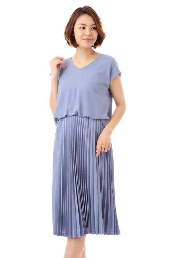【Oggi5月号掲載】【STORY5月号掲載】[ウォッシャブル]プリーツスカートドレス