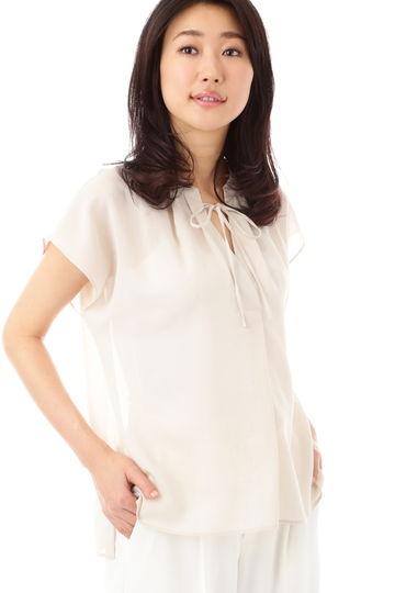 [ウォッシャブル]ハイツイストボイルブラウス【UNDER15000】