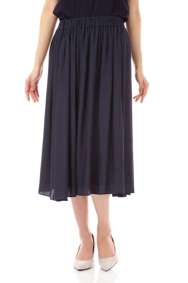 [ウォッシャブル]デシンギャザースカート