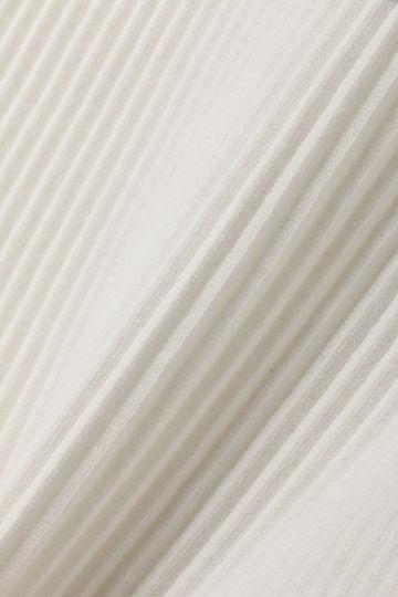 [ウォッシャブル]リブプリーツカットソー【UNDER15000】