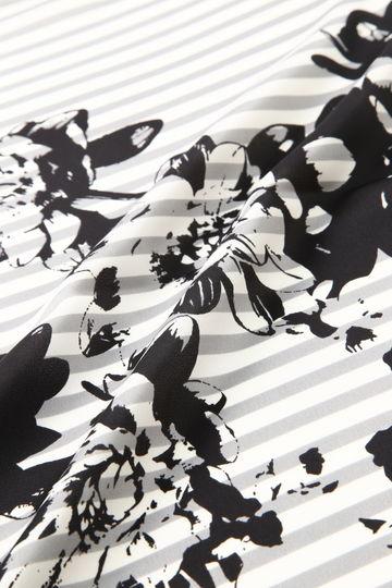 【STORY5月号掲載】ストライプフラワースカーフ【UNDER15000】