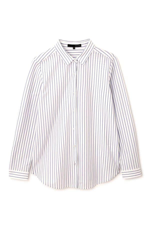 【椿原慶子さん着用】ジャージーシャツストライプ