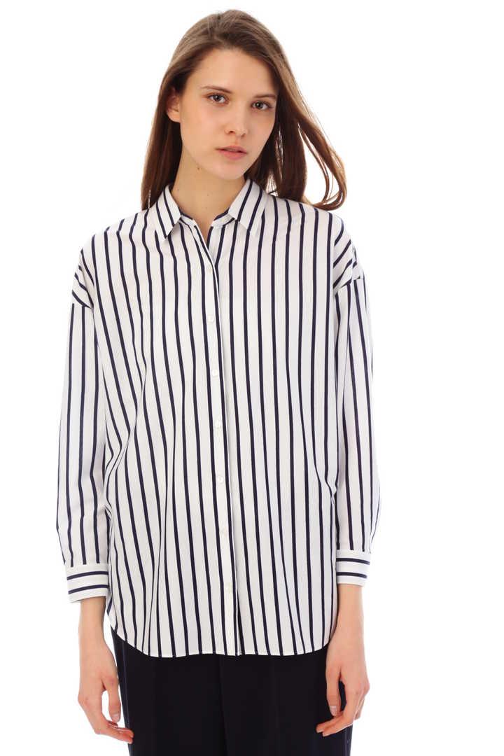 [ウォッシャブル]オーバーサイズジャージーストライプシャツ【UNDER15000】