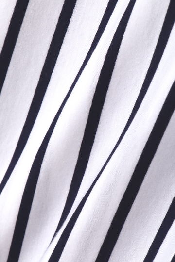 オーバーサイズジャージーストライプシャツ