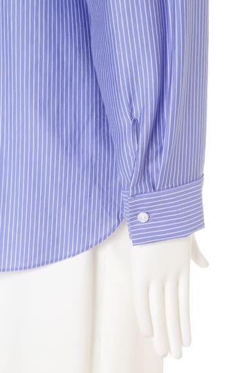 [ウォッシャブル]ストライプジャージーシャツ【UNDER15000】