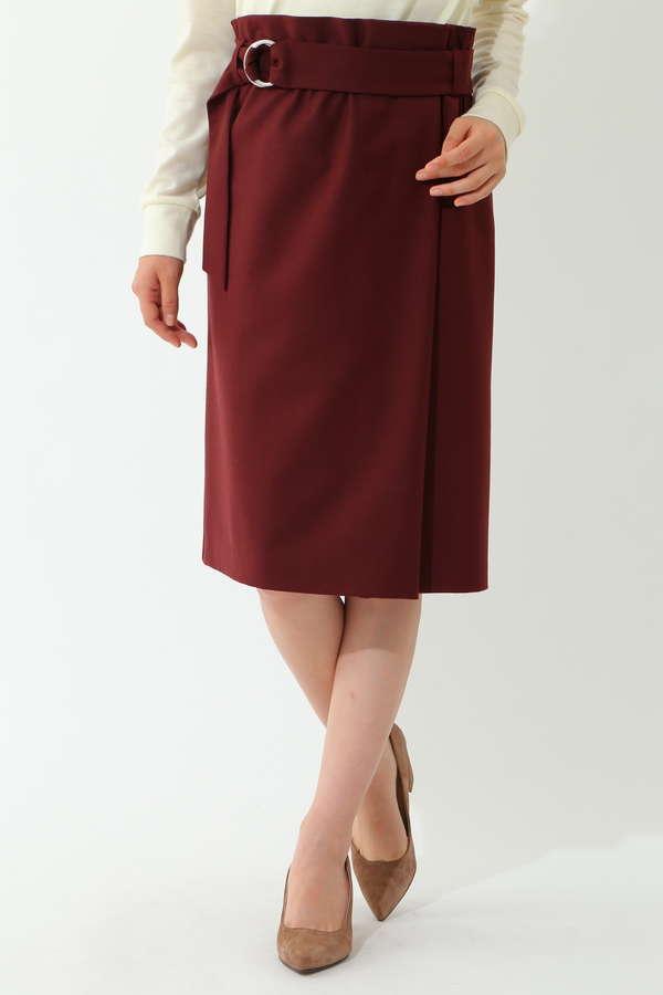 【先行予約 8月下旬 入荷予定】ハイウエストラップ風スカート