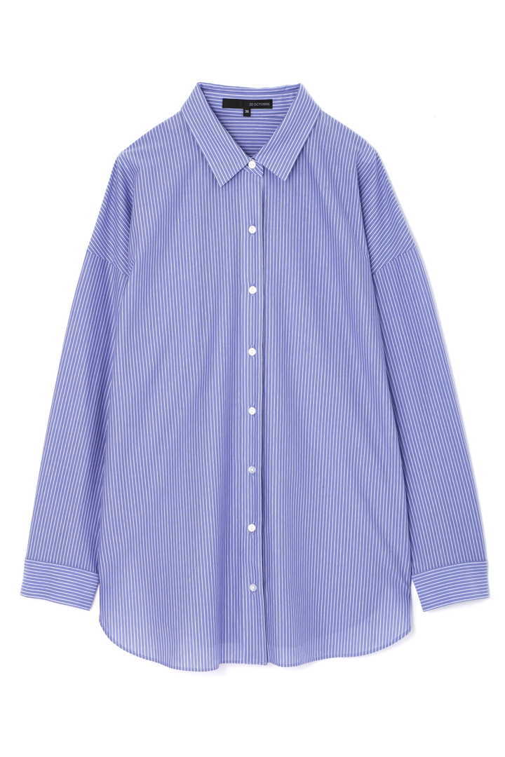 ストライプジャージーシャツ