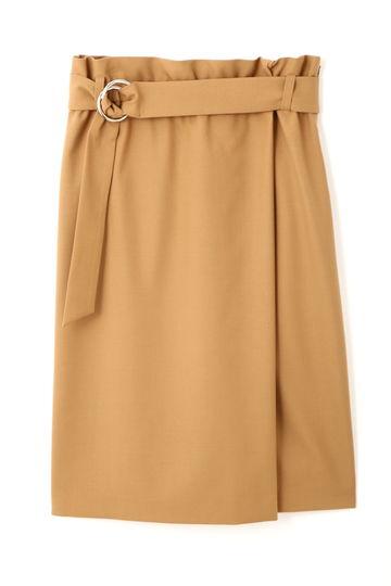 ハイウエストラップ風スカート