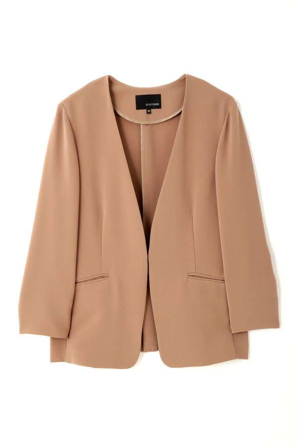 【先行予約 8月上旬 入荷予定】トリアセ混カラーレスジャケット