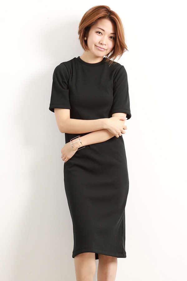 [ウォッシャブル]リブカットソーワンピース【15000UNDER】