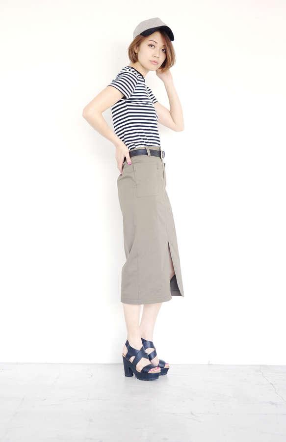 【先行予約 3月下旬入荷予定】チノストレッチスカート