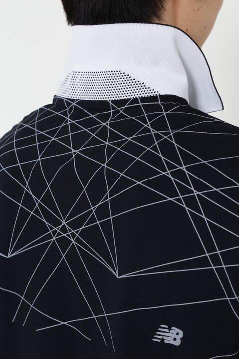 部分モーションレーザープリント 半袖ポロシャツ (MENS SPORT)