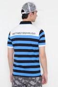 バイカラー×マリンボーダー 半袖 ポロシャツ (MENS METRO)