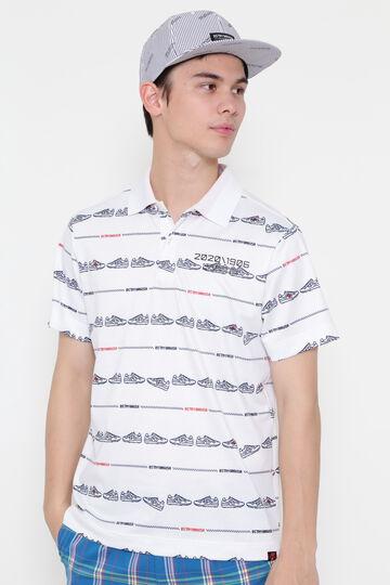 ピクセルシューズプリント 半袖 ポロシャツ (MENS METRO)