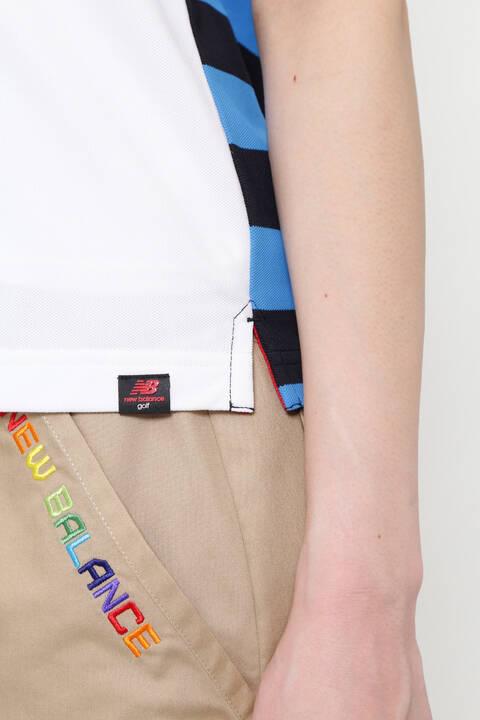 バイカラー×マリンボーダー 半袖 ポロシャツ (WOMENS METRO)