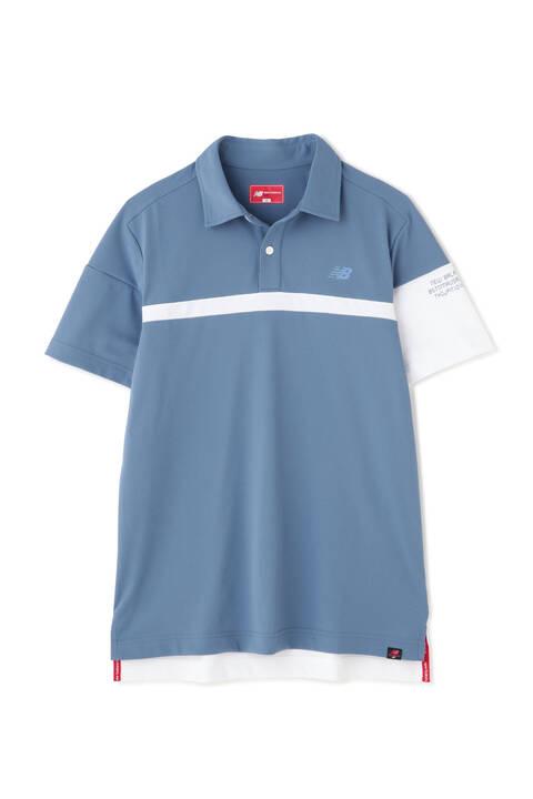 ストレッチ変形カノコ 半袖 ポロシャツ