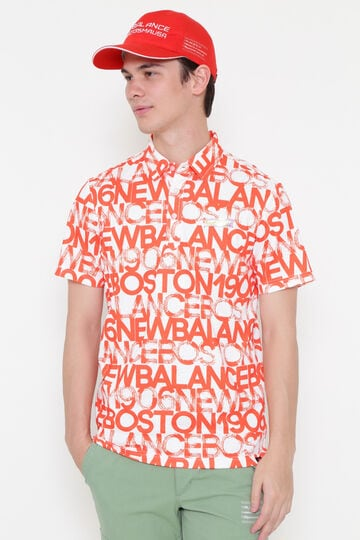 スプラッシュロゴタイププリント 半袖 カラーシャツ (MENS METRO)