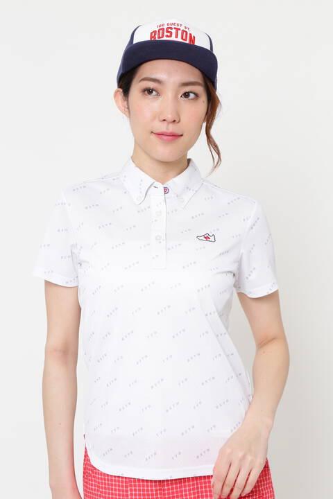 シティーコードモノグラムプリント 半袖 カラーシャツ (WOMENS METRO)