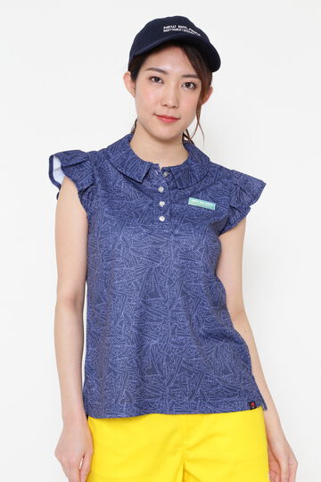 SLEEVELESS COLLAR SHIRT