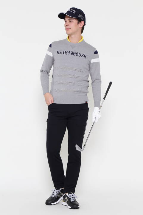 CREW NECK KNIT PULLOVER