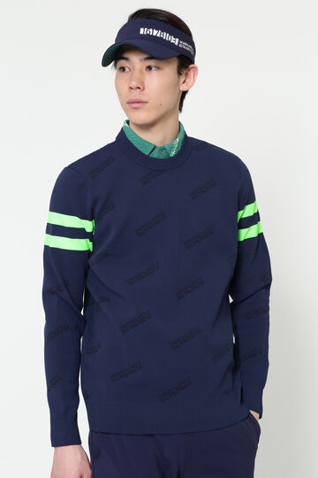 ADP/ CREW NECK KNIT PULLOVER