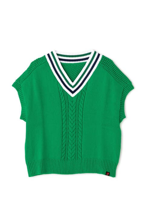 ADP/V NECK KNIT VEST