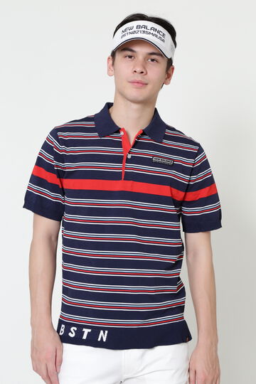 S/SLEEVE KNIT POLO SHIRT