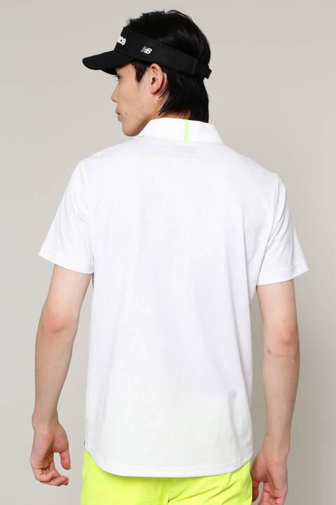 ジオメトリックタワーカモフラージュエンボス 半袖 ポロシャツ (MENS SPORT)
