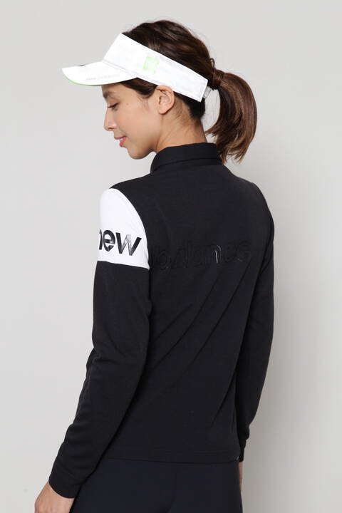 長袖 ハーフジップ カラーシャツ (WOMENS SPORT)