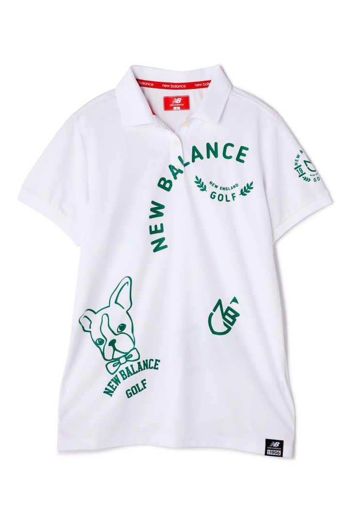 ボストンテリアビッグモチーフ半袖ポロシャツ(METRO WOMENS)