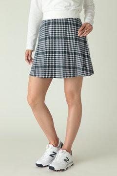 スウェット チェック フレアースカート (WOMENS)