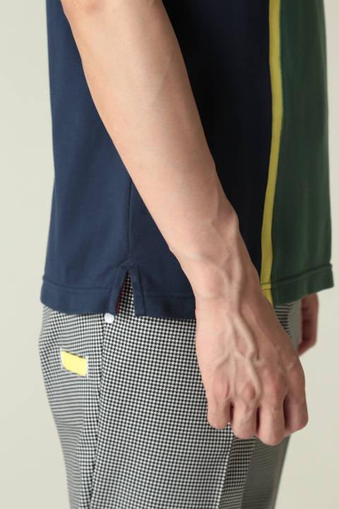 配色デザイン 半袖ポロシャツ(METRO MENS)