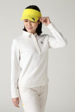 長袖モノグラムジャガード カラーシャツ (WOMENS METRO)