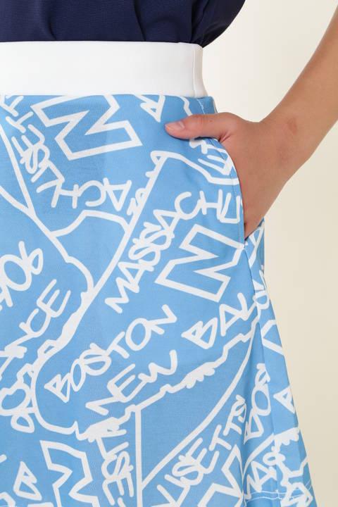 タギングシューズプリント スウェット スカート (METRO WOMENS)