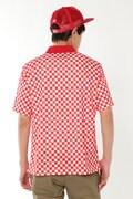 チェッカープリント スパンカノコ半袖ポロシャツ (METRO MENS)