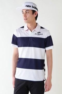 マルチピッチボーダープリント 半袖ポロシャツ (METRO MENS)